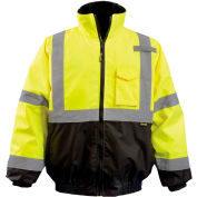 Quilted 2-in-1 Black Bottom Bomber Class 3 Hi-Vis Yellow 2XL