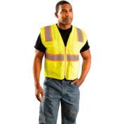OccuNomix Classic Mesh Two-Tone Surveyor Vest, Class 2, ANSI, Hi-Vis Orange, 4XL, LUX-ATRNSM-O4X