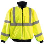 Hi-Vis Value Bomber Jacket, Hi-Vis Yellow, 2XL