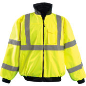 Hi-Vis Value Bomber Jacket, Hi-Vis Yellow, 3XL