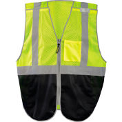 Occunomix LUX-GCBBK-Y2X Break-Away Vest, Mesh, Class 2, Black Bottom, 2XL