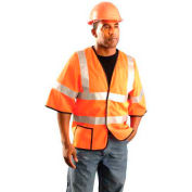 Class 3 Mesh Half Sleeve Vest, Hi-Vis Yellow, 6XL