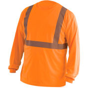 Long Sleeve Wicking T-Shirt Class 2 Hi-Vis Orange 5XL