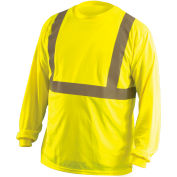 Long Sleeve Wicking T-Shirt Class 2 Hi-Vis Yellow L