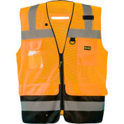 Occunomix LUX-LTGCSBK-O2X Lux Lite Break-Away Surveyor Vest, Class 2, Type R, Orange, 2XL