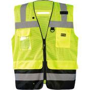 Occunomix LUX-LTGCSBK-Y2X Lux Lite Break-Away Surveyor Vest, Class 2, Type R, Yellow, 2XL