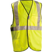 OccuNomix Premium Solid 5-Pt. Break-Away Vest, Class 2, Hi-Vis Yellow, 3XL, LUX-SSBRP-Y3X