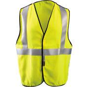 OccuNomix Premium FR 5-Pt. Break-Away Solid Vest, Class 2, Hi-Vis Yellow, XL, LUX-SSBRPFR-YXL