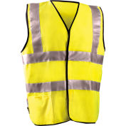 Dual Stripe Flame Resistant Vest With Hook & Loop Class 2 Hi-Vis Yellow L