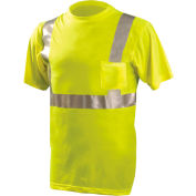 Classic Standard Wicking T-Shirt W/ Pocket, ANSI, Hi-Vis Yellow, XL