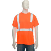 Standard Wicking T-Shirt With Pocket Class 2 Hi-Vis Orange Medium