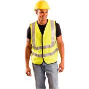 OccuNomix Premium Flame Resistant Solid Vest, Class 2, Hi-Vis Yellow, Class 2, L, LUX-SSFG/FR-YL