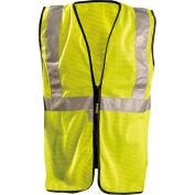 Premium Mesh Standard Vest w/Zipper, Hi-Vis Yellow, 4XL