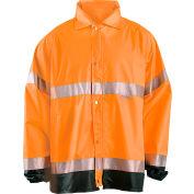 Breathable Foul Weather Coat, Hi-Vis Orange, XL