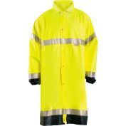 Premium Breathable Raincoat, Hi-Vis Yellow, L