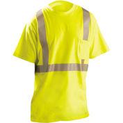 OccuNomix Flame Resistant Short Sleeve T-Shirt, Class 2, ANSI, Hi-Vis Yellow, XL, LUX-TP2/FR-YXL