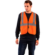 OccuNomix Value Flame Resistant Non-ANSI Solid Vest, Orange, L/XL