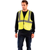 OccuNomix Value Flame Resistant Non-ANSI Solid Vest, Yellow, L/XL