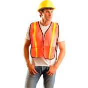 Value Mesh Gloss Vest, Non-ANSI, Hi-Vis Orange, Regular