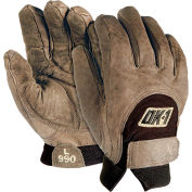 OccuNomix Anti-Vibration Premium Curve Technology Work Gloves, Brown, S, 1 Pair