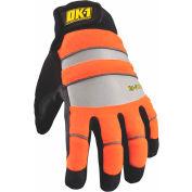 Occunomix OK-IG300-O-15 Waterproof Winter Protection Glove, Hi-Vis Orange, XL