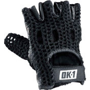 OccuNomix Classic Knuckle Lifters Half-finger Gloves, Full-Grain Leather, Black, XL, 1 Pair
