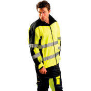 Speed Collection® Premium Motorcycle Soft Shell Jacket, Hi-Vis Yellow, 2XL