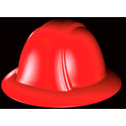 Vulcan Full Brim Hard Hat With Ratchet Suspension, Red