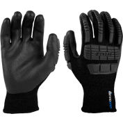 Mad Grip Ergo Impact Thermal Glove, Black, Nitrile Palm, S, EITHFBLKRS