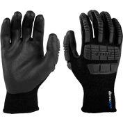 Mad Grip Ergo Impact Thermal Glove, Black, Nitrile Palm, S, EITHFBLKRS