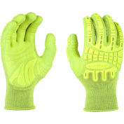 Mad Grip Thunderdome™ Impact Glove, Hi-Vis Yellow, L , PPTHVYRL
