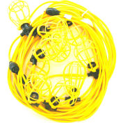 CEP 96135, 50' 12/3 SJTW String Light, Plastic Guards, 5 sockets