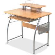 Lorell® Upper Shelf Laminate Computer Desk - Maple