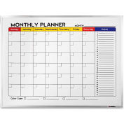 "Lorell Dry-Erase Magnetic Planner Board 25-1/2"" x 19-7/8"" x 1-3/16"" Aluminum"