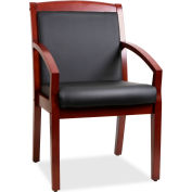 Lorell® Sloping Arms Wood Guest Chair - Black/Cherry