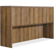 "Lorell® Hutch - 66.1"" x 14.8"" x 36.5"" - Walnut - Chateau Series"