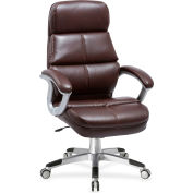 Lorell® Brown Bonded Leather High-Back Chair - Brown