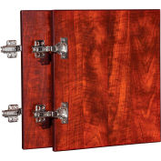 "Lorell® Door Kit for Hutch - 13.6"" x 16"" x 0.8"" - Cherry - Essentials Series"