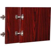 "Lorell® Door Kit for Hutch - 16.6"" x 16"" x 0.8"" - Mahogany - Essentials Series"