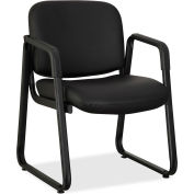 Lorell® Black Leather Guest Chair - Black
