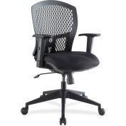 Lorell® Plastic Back Flex Chair - Black