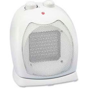 Lorell LLR33556 Space Heater, Thermostat, 2-Settings, 1 Fan Setting, Ceramic, Light Gray