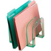 Lorell® Acrylic Transparent Edge Large File Sorter, Green