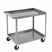 "Nexel-2 Shelf Steel Stock Cart 36""L x 24""W x 36""H 600 Lb. Capacity"