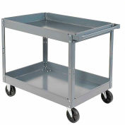"Nexel-2 Shelf Deep Tray Steel Stock Cart 30""L x 16""W x 32""H 300 Lb. Capacity"