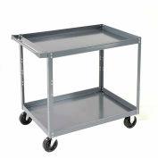 "Nexel-2 Shelf Steel Stock Cart 30""L x 18""W x 36""H 600 Lb. Capacity"