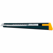 OLFA® 5001 Metal Body Slide Mechanism Utility Knife w/ Blade Snapper - Black/Yellow