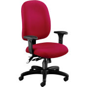 OFM Ergonomic Task Chair with Arms, Fabric, Mid Back, Wine