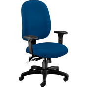 OFM Ergonomic Task Chair with Arms, Fabric, Mid Back, Navy