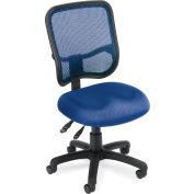 OFM Comfort Series Ergonomic Mesh Swivel Armless Task Chair, Mid Back, Navy